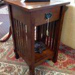 Mission style sidetable from Furniture of America. $135.