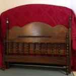 Barley-twist headboard and footboard for a full size bed $275.00