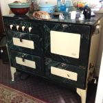 Oxford Universal stove in marbled green.