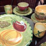 Pfaltzgraff Central Market Pottery. 8 four-piece place settings $350.00