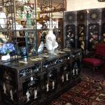 Chinese buffet, mother of pearl and soapstone. $1500.00