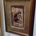 Kokopelli framed art