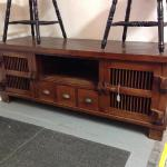 Indonesian teak TV stand